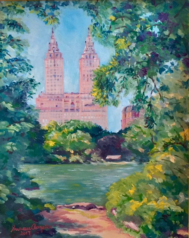 Central Park West, 2017, oil on canvas, 20x16 inches